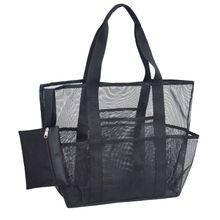 Очень большой пляж емкости сумки мешок сетки с карманами на молнии сверхмощный свет 425E