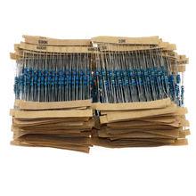 1350 шт./лот 135 значение x 10 шт. 1/4 Вт набор ассортимента металлических пленочных резисторов