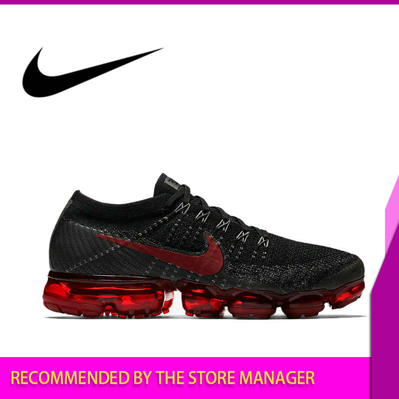 Оригинальные дышащие мужские кроссовки для бега от Nike Air VaporMax Be True Flyknit, уличные спортивные удобные прочные беговые кроссовки