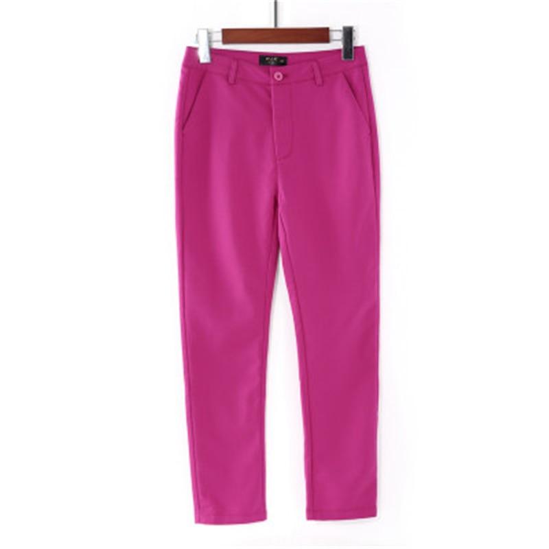 Spring casual elastic Cotton pencil pants women streetwear cute Ankle-Length 92cm trousers femal stretch joggers sweatpants