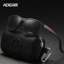 KDEAM Soft Matte Black Polarized Men's Sunglasses TR90 Plastci Titanium Polaroid