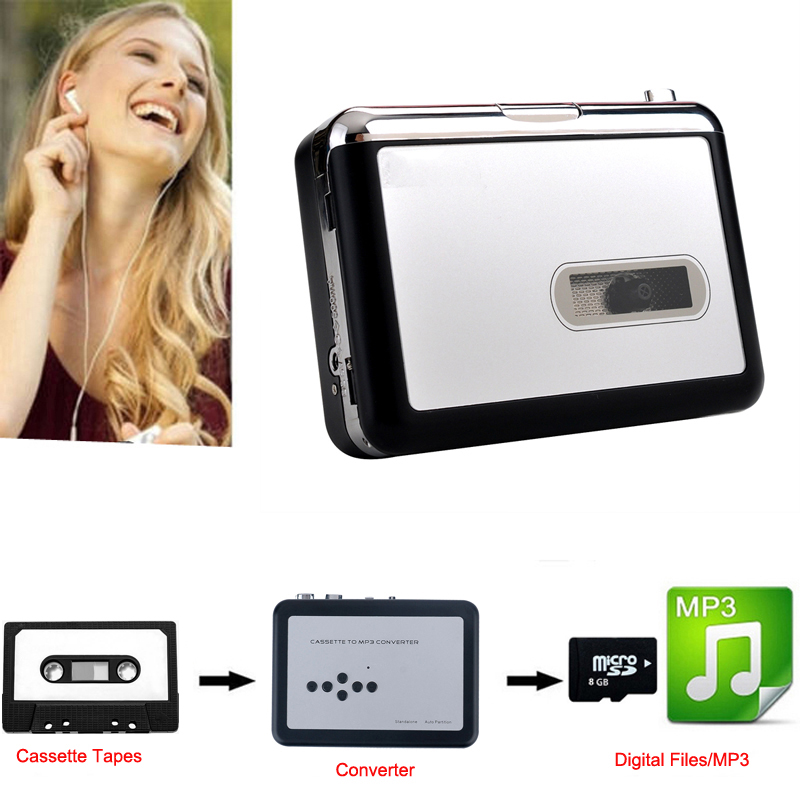 Original Genuine Ezcap 232 Vinyl Tape Cassette to MP3 Converter Audio Capture Walkman Music Player,Save to TF / Micro SD Card