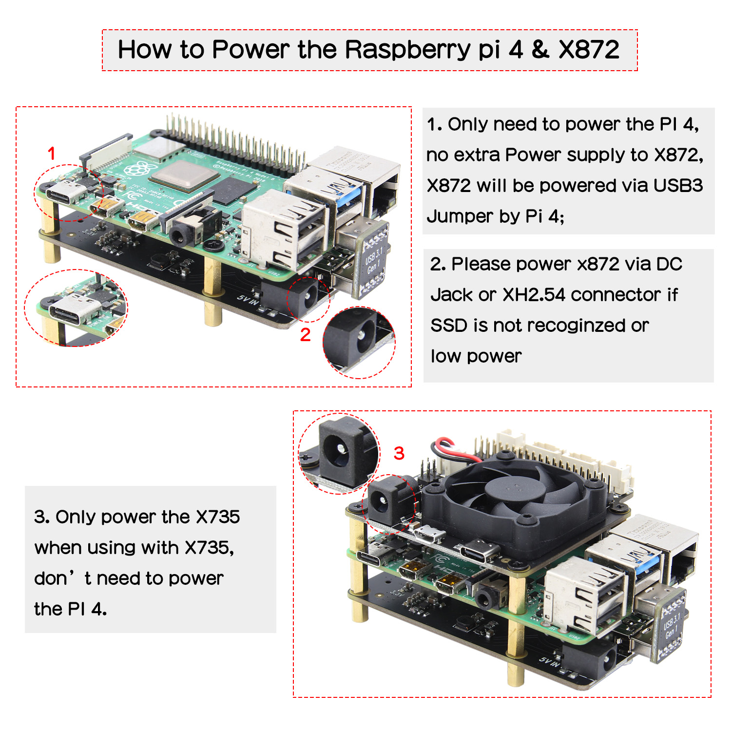 cheapest Raspberry Pi X872 NVMe M 2 2280 2260 2242 2230 SATA SSD Shield X872 Expansion Board for Raspberry Pi 4 Model B