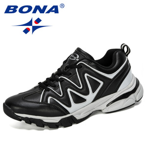 Image 3 - BONA 2019 New Designers Leather Running Shoes Men Outdoor Sneaker Shoes Casual Breathable Shoes Jogging Tennis Shoes Man Trendy