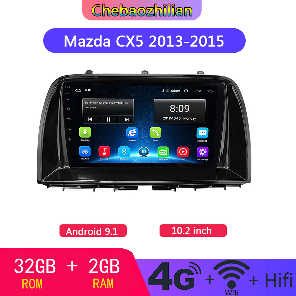 10.2 inch Android 9.1 Radio Stereo Car GPS Navigation For Mazda CX5 2013-2015 Head Unit multimedia Player WIFI Bluetooth