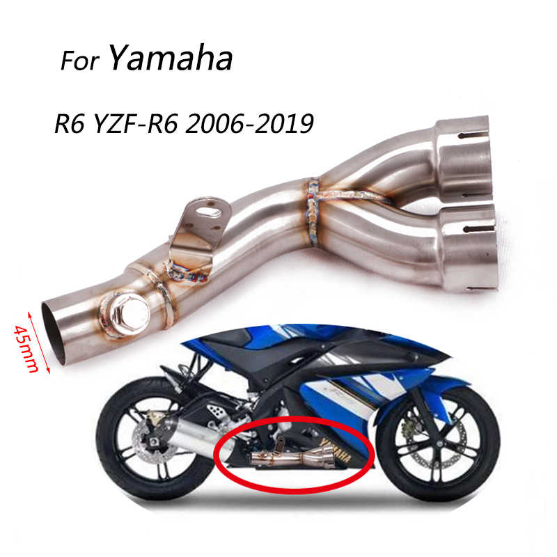 45 mm mid pipe for yamaha r6 yzf r6