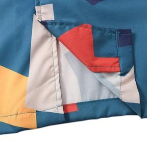 Image 5 - 2020 Hip Hop Shirt Streetwear Mens Hawaiian Shirt Color Block Geometric Harajuku Summer Beach Shirt Hawaii Thin Short Sleeve New