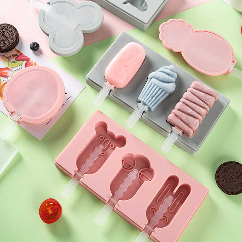 Silikon Eis Form Ice Cube Tray Popsicle Barrel Diy Mold Dessert Eis Form mit Popsicle Stick