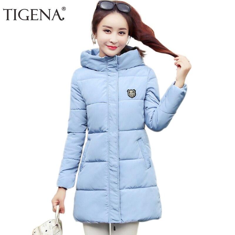 TIGENA Plus Size Long Winter Jacket Coat for Women 2019 korean Slim   Parka   Women Down Cotton Padded Warm Winter Coat Female