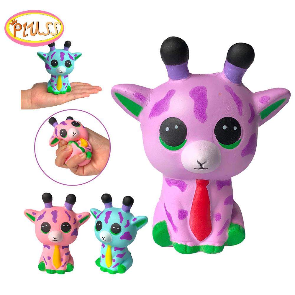 Squishy Spotted Deer Squishi Cartoon Animals Squeeze Squishy Slow Rising Kids Toy Fun PU Stress Relief Antistress Toy