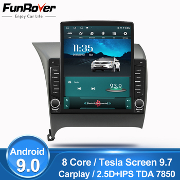 "Funrover 9.7"" Tesla screen Android 9.0 car multimedia Player radio gps navi For Kia K3 Cerato Forte 2012-2016 2.5D+IPS DSP nodvd"