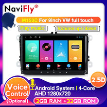NaviFly Android 9 HD 9 pulgadas de pantalla para Skoda VW Passat B6 Polo Golf 4 5 Touran Seat coche Multimedia radio de Audio reproductor gps(China)