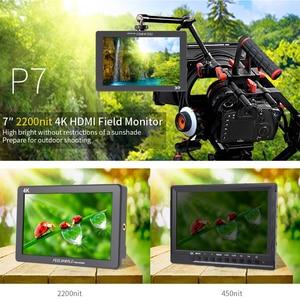 Image 2 - FEELWORLD P7 7 אינץ IPS 2200nit Ultra בהיר מצלמה שדה צג 4K HDMI DSLR צג אלומיניום דיור עם סוללה DC פלט