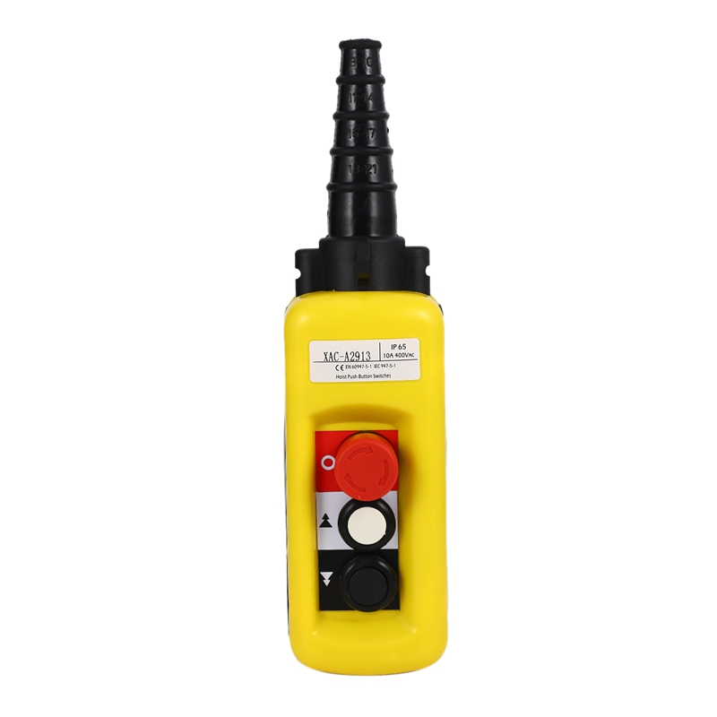 Lift Control Pendant XAC-A2913 Waterproof Handheld Pushbutton Switch With Electric Hoist Handle, 2 Buttons With Two Speed ​​and