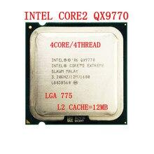Intel Core 2 Extreme QX9770 3.2GHz 12MB önbellek 1600 MHz FSB LGA775 qx9770 masaüstü CPU desteği X48 anakart
