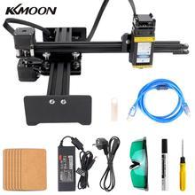 KKMOON grabador láser de escritorio portátil profesional, 10000mW, enrutador de madera CNC, máquina de grabado láser DIY, talladora
