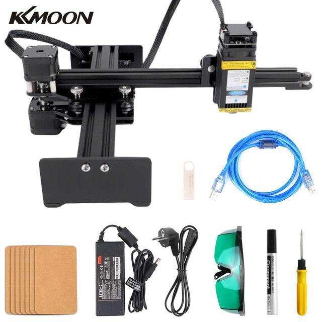 KKMOON graveur de bureau Portable professionnel, Machine à graver, DIY, 10000 bois, CNC mW