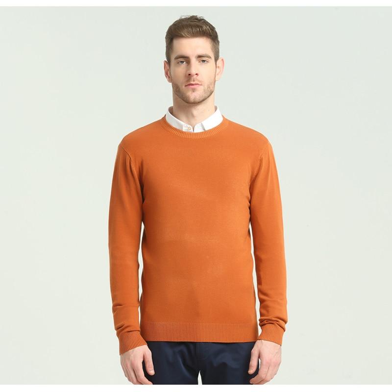 2019 Autumn Winter New Men's Casual Sweater Fashion O-neck Classic Men Slim 100%Cotton Pullover Sweater Brand Clothing
