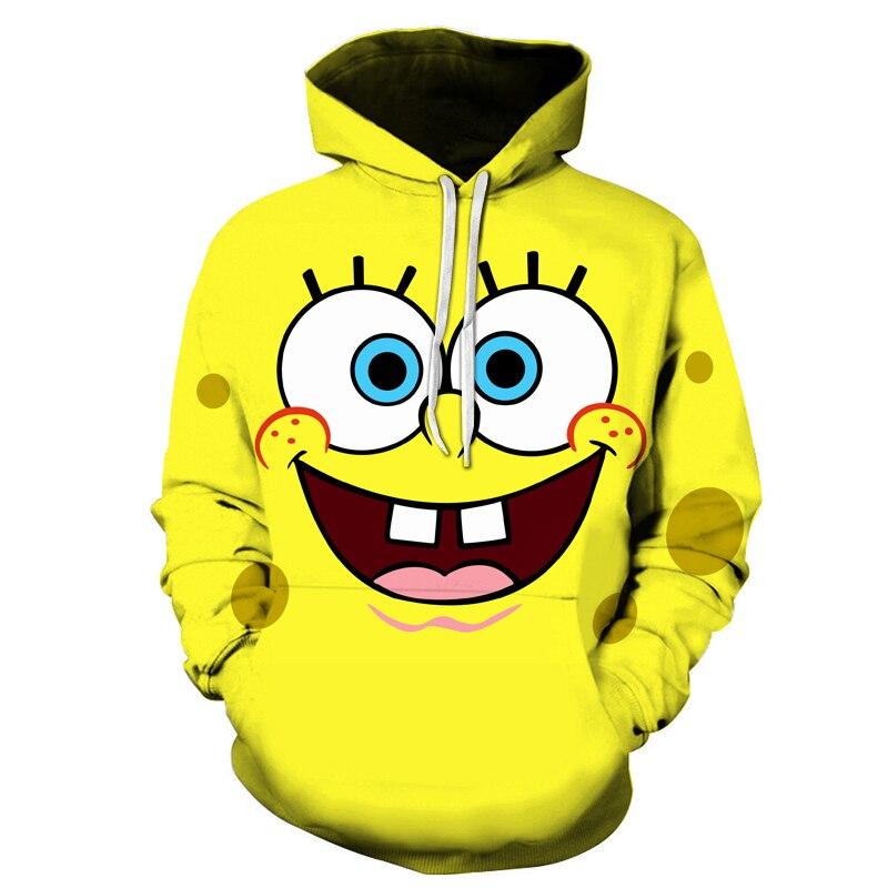 Spongebob Squarepants 3D Hoodie Bonito Para Homem E Mulher Hoodies Primeira Escolha Roupas Para Primavera E Outono Streetwear Mo