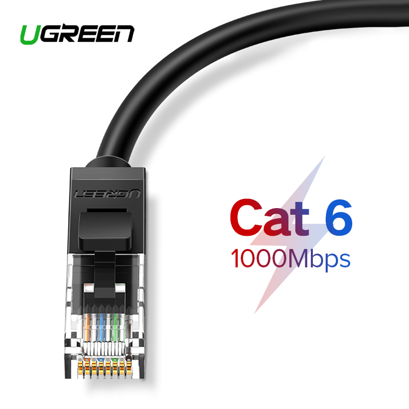 UGREEN Ethernet Cable 1000Mbps Cat 6 Network Lan Cord UTP Gigabit Networking Wire For Laptop Router RJ45 CAT6 Ethernet Cable