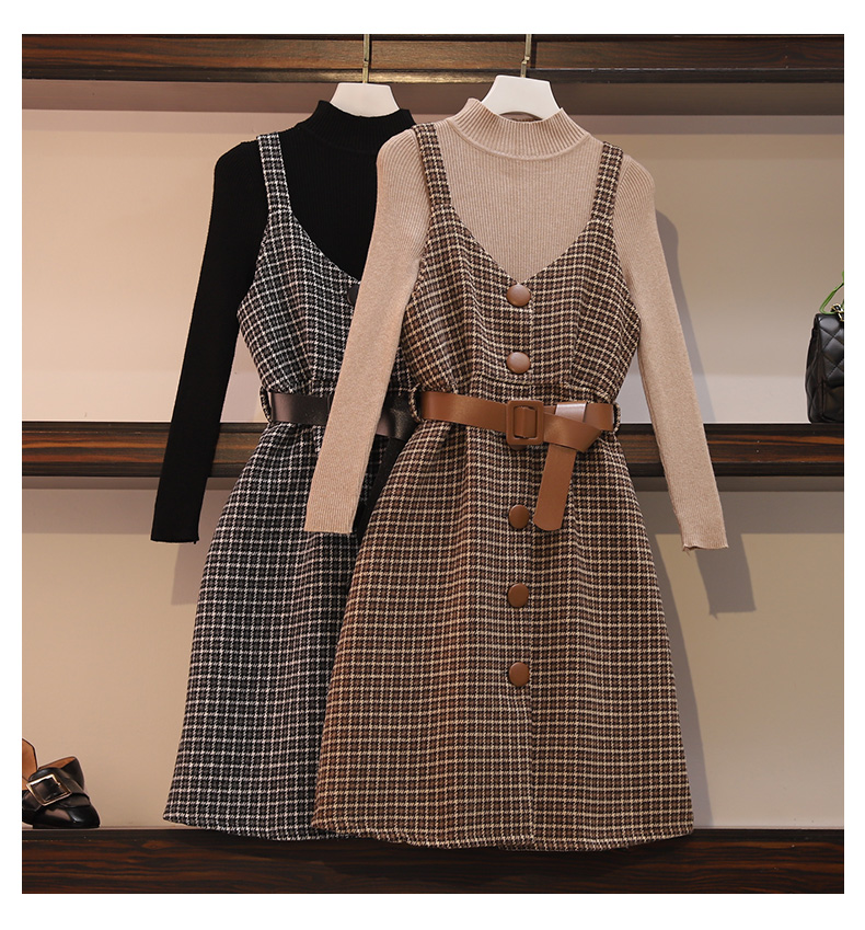 Two Pieces Sets Women Dresses Set Winter Sweater Dresses Women Sets Warm Winter Sweater Wool Dresses Suits Outfits