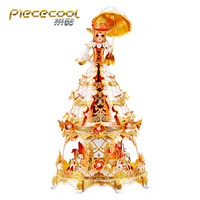 New arrival Piececool model Princess Model puzzle 3D laser cut Jigsaw puzzle DIY Metal model Nano Puzzles Toys for adult kids