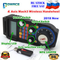 [EU STOCK] XHC 4 Axis Wireless Mach3 MPG Handwheel Manual USB Receiver 40 Meters Distance WHB04B
