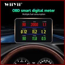 GEYIREN Yeni P16 OBD Head Up Display speedmeter Cam Projektör OBD II EUOBD akıllı dijital Bilgisayar LED Ekran evrensel