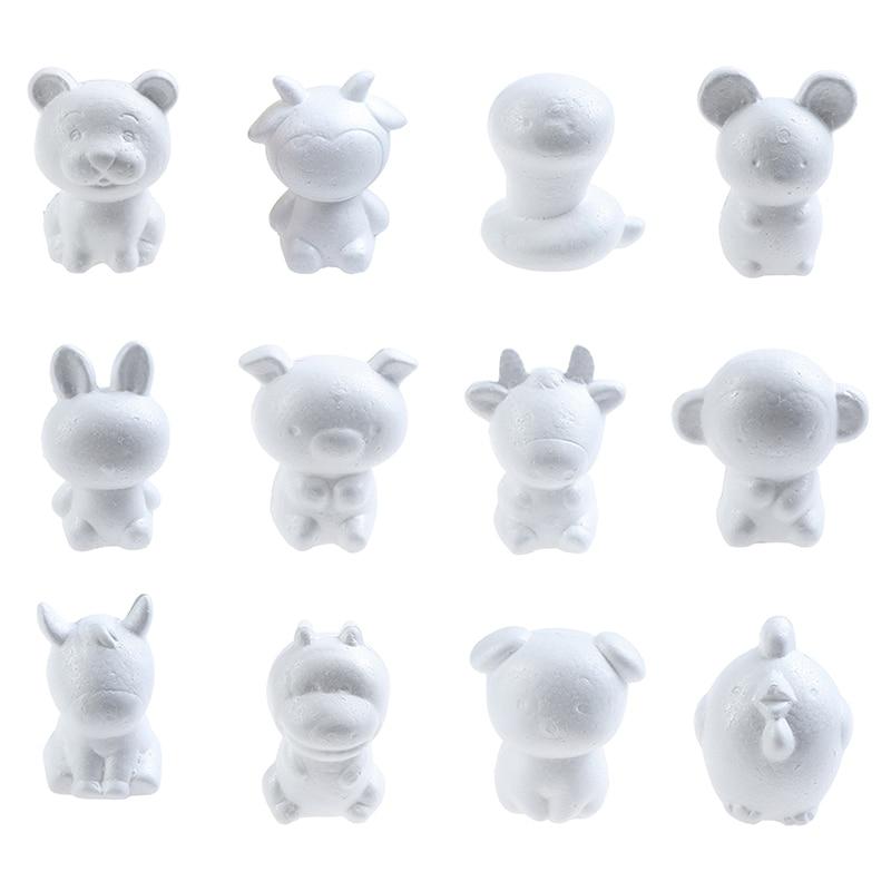 Zodiac Signs Rat Kids Craft Toys Foam Animals Modeling Polystyrene Styrofoam 12cm Doll DIY Modeling Polystyrene Styrofoam