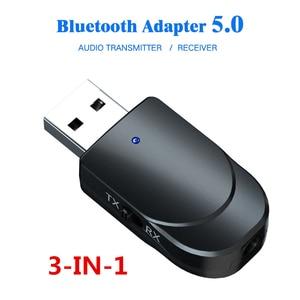 Image 3 - KEBIDU 3 で 1 Bluetooth トランスミッタレシーバワイヤレス Bluetooth 5.0 アダプタミニ 3.5 ミリメートル AUX ステレオのためのための車の音楽テレビ最新