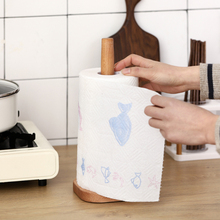 Wooden Paper Towel Stand Rack Bathroom Storage Roll Round Beech Kitchen Home Table Tool Accessories for HOme