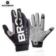 Rockbros冬サイクリング手袋自転車手袋防風熱暖かいフリース手袋オートバイ手袋スキー手袋バイク手袋