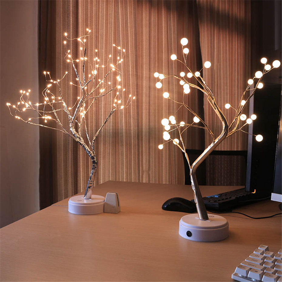 Bonsai Lighted Tree Tabletop Led Lamp 108 Leds Copper Wire Fairy Lights Usb And Battery Powered Home Decor Artificial Fire Tree Artificial Dried Flowers Aliexpress