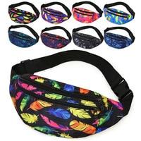 Riñonera holográfica deportiva para hombre, bolso cruzado a la moda para el pecho, para teléfono, con cinturón multifunción