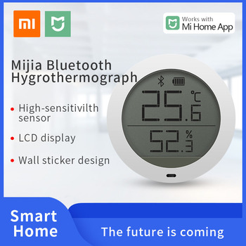 Xiaomi-termómetro Digital Mijia mi Smart home, Sensor Digital de temperatura y humedad con Bluetooth, funciona con la aplicación Mijia