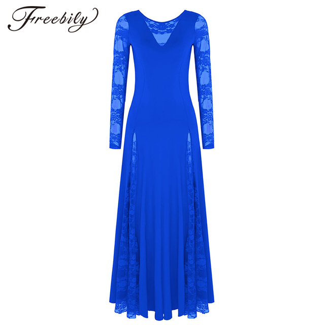 Sexy lace splice ballroom dance competition dresses for woman long sleeves waltz tango dance dress standard ballroom dress