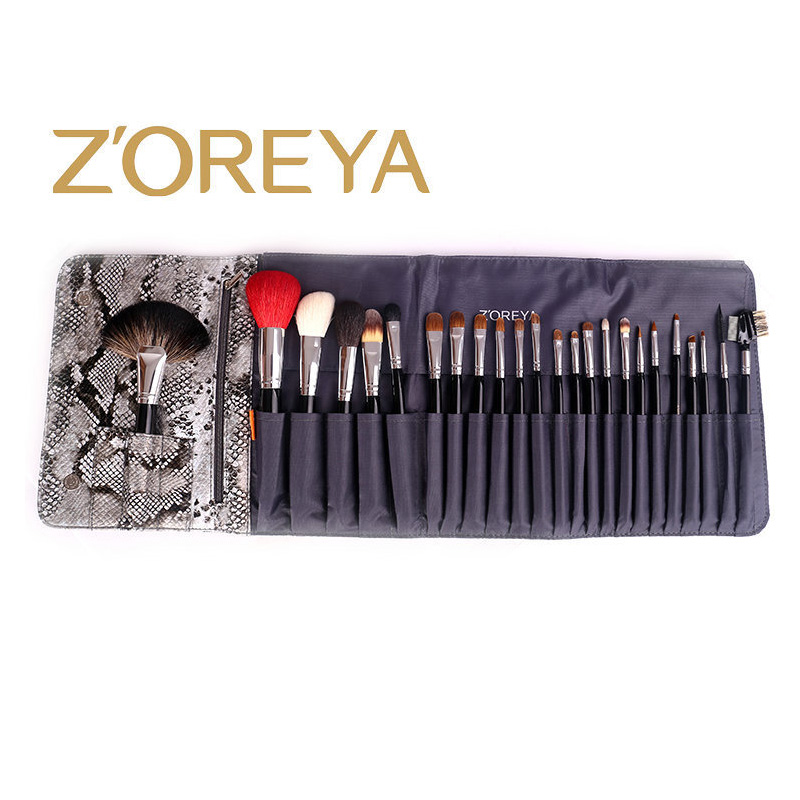 Набор кистей для макияжа, 24 набора кистей, черная деревянная ручка, Профессиональный набор кистей для макияжа, высококачественные косметические инструменты - 3