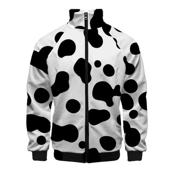 Animal Texture 3D Printed Stand Collar Zipper Jacket Women/Men Fashion Long Sleeve Jackets 2020 Hot Sale Streetwear Clothes фото