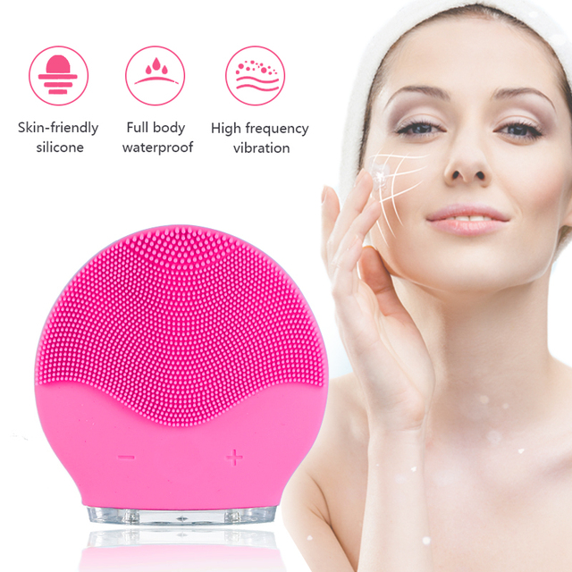 silicone face cleansing brush facial cleanser pore щетка для лица cepillo Electric Facial Cleansing Face Washing Brush VIPdrop 1