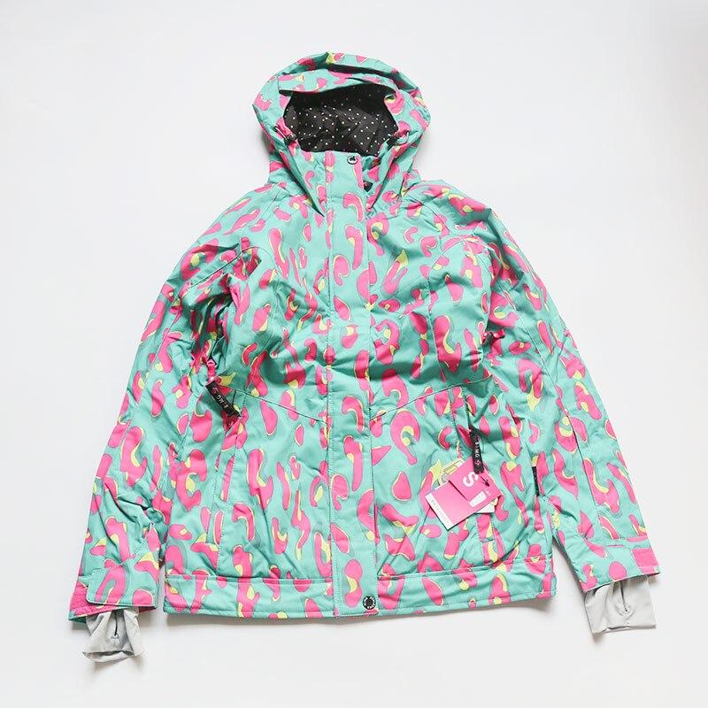 Новое поступление, куртки для сноуборда bluemagic, женский лыжный костюм, зимние уличные Водонепроницаемые зимние костюмы, женская одежда, тонкое пальто, дышащая - Цвет: blue leo JKT
