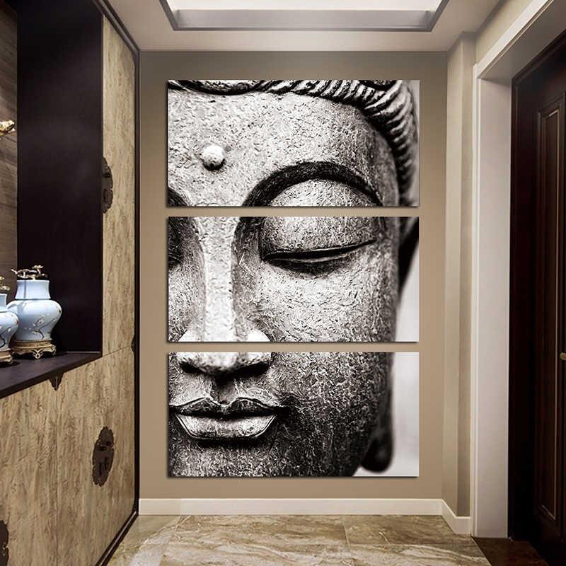 White Buddha Canvas Painting