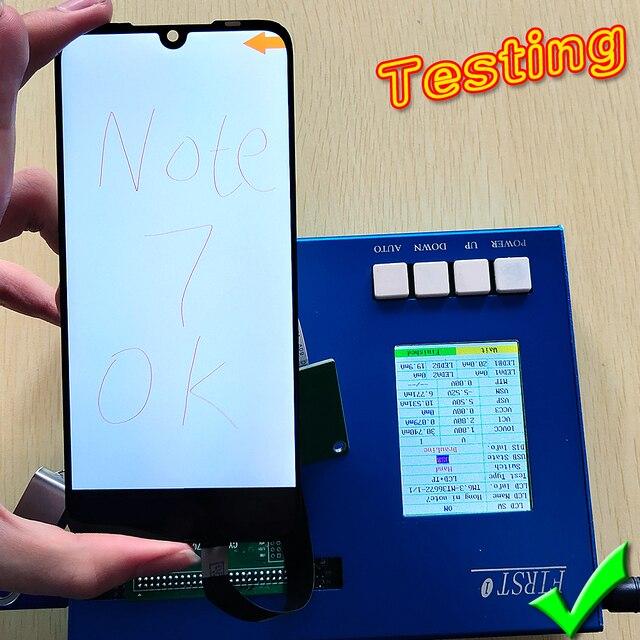 Display Lcd Per Xiaomi Redmi Nota 7 6.3 pollici FANSU1 Digitizer Assembly Cornice Dello Schermo di Tocco Per Xiaomiredmi Nota 7 pro lcd