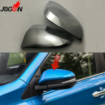 For Toyota RAV4 XA40 Facelift 2016 2017 Car Side Rear View Rearview Back Mirror Cover Replacement Matte Silver 2PCS Car-Styling