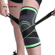 WorthWhile 1PC Sports Kneepad Men Pressurized Elastic Knee Pads Support Fitness Gear Basketball Volleyball Brace Protector cheap Universal Polyester SA-KN0107 Only Sold by One Piece Not 1 Pair