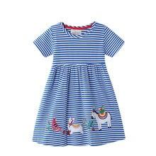 2020 robe de sirène enfants licorne robes couleur variable filles Vestido été animaux Applique Vestidos enfant en bas âge robe de princesse