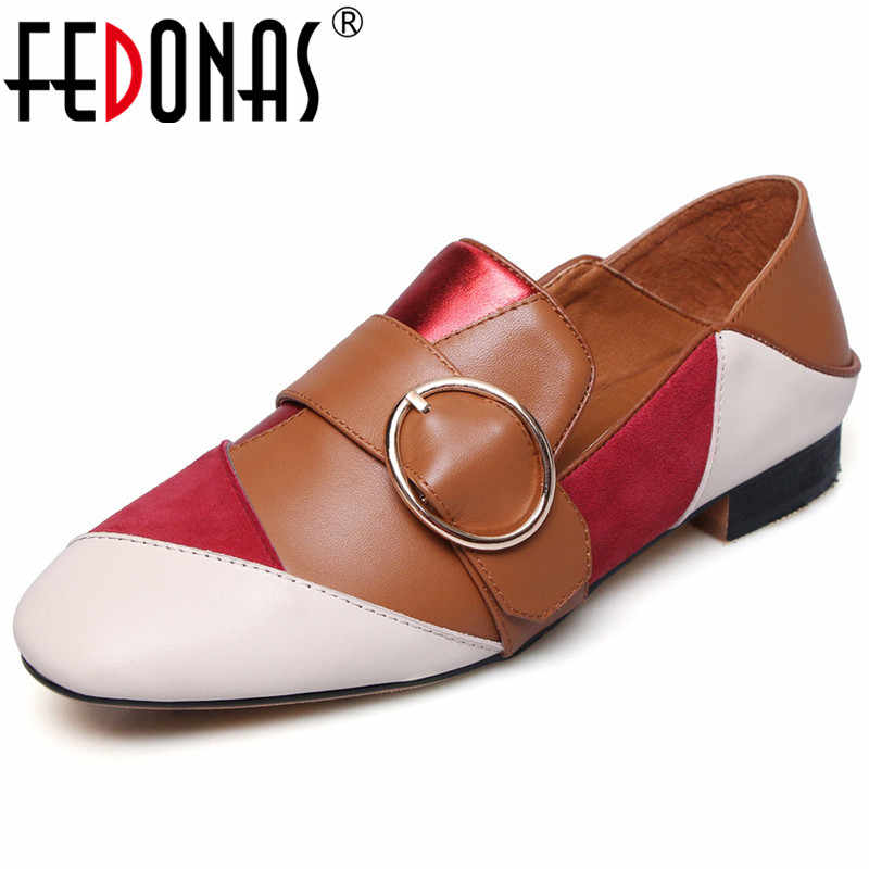 FEDONAS Spring Office Party Shoes Woman