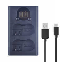 EN-EL15a EN-EL15b Double LCD Chargeur De Batterie USB Compatible avec pour Nikon D500 D600 D610 D7000 D7100 D7200 D750 D7500 Caméras