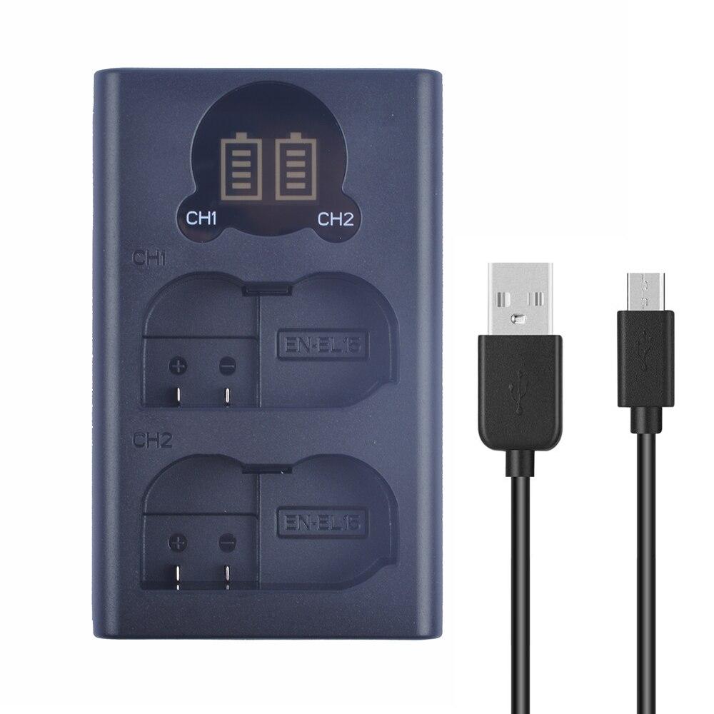 EN-EL15a MH-25a двойной ЖК-дисплей USB Батарея Зарядное устройство совместимо с Nikon Z6 Z7 1V1 D800 D850 D810E D810A D810 D800E D800 камеры