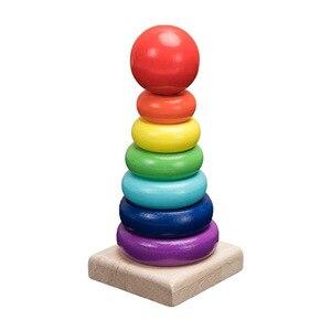 Image 3 - QWZ مونتيسوري ألعاب خشبية الطفولة ألعاب تعلم الأطفال أطفال طفل كتل خشبية ملونة التنوير لعبة تعليمية