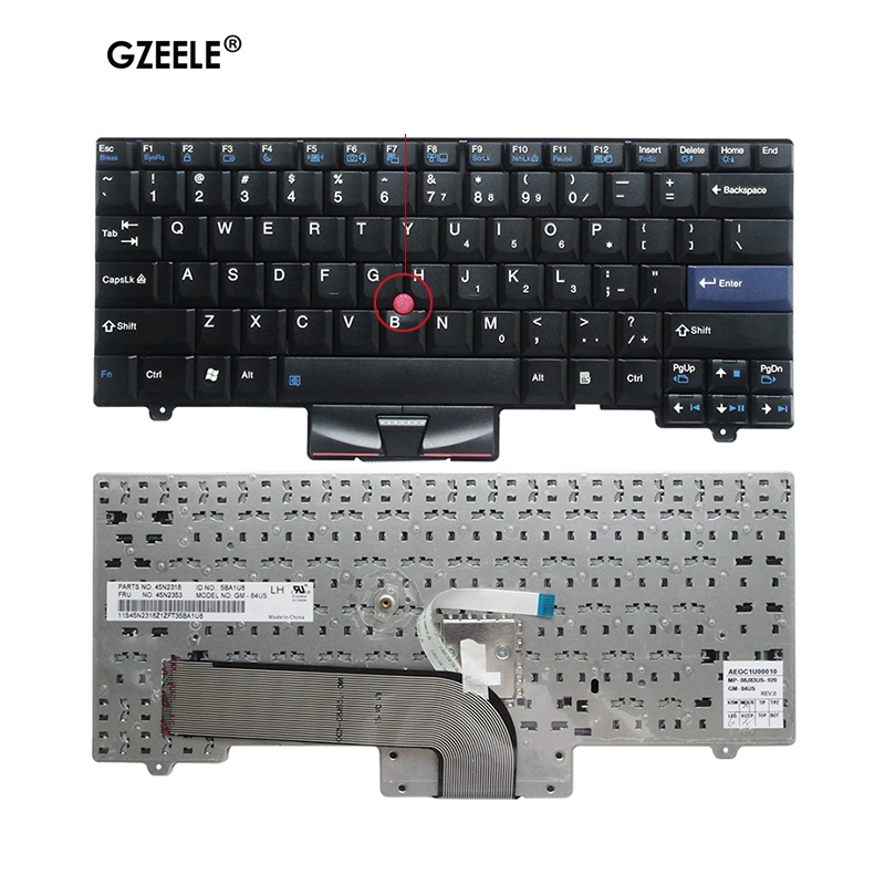 GZEELE New Keyboard For Lenovo For IBM For ThinkPad SL410 L410 SL510 L420 L410 L510 L412 L512 L520 L421 SL410K SL510K US Version